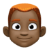 👨🏿‍🦰 man: dark skin tone, red hair Emoji on Facebook Platform