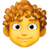 👨‍🦱 man: curly hair Emoji on Facebook Platform