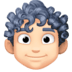 👨🏻‍🦱 man: light skin tone, curly hair Emoji on Facebook Platform