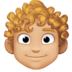 👨🏼‍🦱 man: medium-light skin tone, curly hair Emoji on Facebook Platform