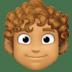 👨🏽🦱 man: medium skin tone, curly hair Emoji on Facebook Platform