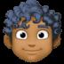 👨🏾🦱 Medium Dark Skin Tone Curly Hair Man Emoji on Facebook Platform