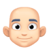 👨🏻‍🦲 man: light skin tone, bald Emoji on Facebook Platform