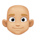 👨🏼‍🦲 man: medium-light skin tone, bald Emoji on Facebook Platform