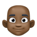👨🏿‍🦲 man: dark skin tone, bald Emoji on Facebook Platform