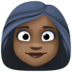 👩🏿 woman: dark skin tone Emoji on Facebook Platform
