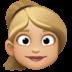👱🏼♀️ woman: medium-light skin tone, blond hair Emoji on Facebook Platform