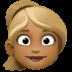👱🏾♀️ woman: medium-dark skin tone, blond hair Emoji on Facebook Platform