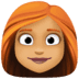 👩🏽🦰 woman: medium skin tone, red hair Emoji on Facebook Platform