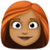 👩🏾‍🦰 woman: medium-dark skin tone, red hair Emoji on Facebook Platform