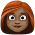 👩🏿‍🦰 woman: dark skin tone, red hair Emoji on Facebook Platform