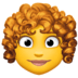 👩‍🦱 woman: curly hair Emoji on Facebook Platform