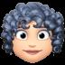 👩🏻🦱 woman: light skin tone, curly hair Emoji on Facebook Platform