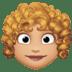 👩🏼🦱 woman: medium-light skin tone, curly hair Emoji on Facebook Platform