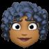 👩🏾🦱 Medium Dark Skin Tone Curly Hair Woman Emoji on Facebook Platform