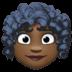 👩🏿🦱 woman: dark skin tone, curly hair Emoji on Facebook Platform