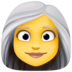 👩‍🦳 woman: white hair Emoji on Facebook Platform