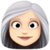 👩🏻‍🦳 woman: light skin tone, white hair Emoji on Facebook Platform