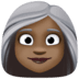 👩🏿‍🦳 woman: dark skin tone, white hair Emoji on Facebook Platform