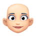 👩🏻‍🦲 woman: light skin tone, bald Emoji on Facebook Platform