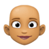 👩🏽‍🦲 woman: medium skin tone, bald Emoji on Facebook Platform