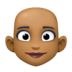 👩🏾‍🦲 woman: medium-dark skin tone, bald Emoji on Facebook Platform