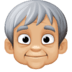🧓🏼 older person: medium-light skin tone Emoji on Facebook Platform