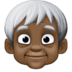 🧓🏿 Dark Skin Tone Older Person Emoji on Facebook Platform