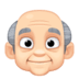 👴🏻 Light Skin Tone Old Man Emoji on Facebook Platform