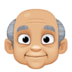 👴🏼 old man: medium-light skin tone Emoji on Facebook Platform