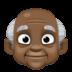 👴🏿 old man: dark skin tone Emoji on Facebook Platform