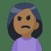 🙍🏾 person frowning: medium-dark skin tone Emoji on Facebook Platform