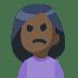 🙍🏿 person frowning: dark skin tone Emoji on Facebook Platform