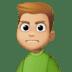 🙍🏼♂️ Medium Light Skin Tone Man Frowning Emoji on Facebook Platform
