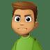 🙍🏽♂️ man frowning: medium skin tone Emoji on Facebook Platform