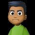 🙍🏾♂️ man frowning: medium-dark skin tone Emoji on Facebook Platform