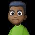 🙍🏿♂️ man frowning: dark skin tone Emoji on Facebook Platform