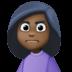 🙍🏿♀️ woman frowning: dark skin tone Emoji on Facebook Platform