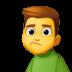 🙎♂️ man pouting Emoji on Facebook Platform