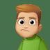 🙎🏼♂️ man pouting: medium-light skin tone Emoji on Facebook Platform