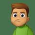 🙎🏽♂️ man pouting: medium skin tone Emoji on Facebook Platform