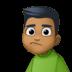 🙎🏾♂️ man pouting: medium-dark skin tone Emoji on Facebook Platform
