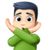 🙅🏻♂️ man gesturing NO: light skin tone Emoji on Facebook Platform