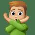 🙅🏼♂️ man gesturing NO: medium-light skin tone Emoji on Facebook Platform