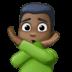 🙅🏿♂️ Dark Skin Tone Man Gesturing No Emoji on Facebook Platform