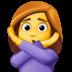 🙅♀️ woman gesturing NO Emoji on Facebook Platform