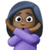 🙅🏿‍♀️ woman gesturing NO: dark skin tone Emoji on Facebook Platform