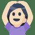 🙆🏻 Light Skin Tone Person Gesturing Ok Emoji on Facebook Platform