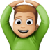 🙆🏼♂️ Medium Light Skin Tone Man Gesturing Ok Emoji on Facebook Platform