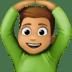 🙆🏽♂️ man gesturing OK: medium skin tone Emoji on Facebook Platform